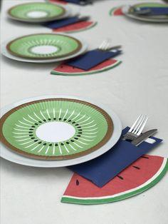 fruit tafel decoratie zomer