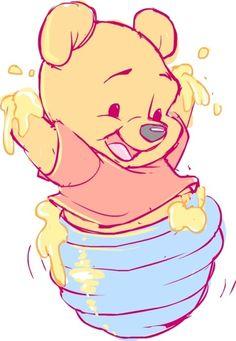 Winnie the Pooh Fan Art - Disney Fan Art - Disney Winnie The Pooh, Winnie The Pooh Drawing, Winne The Pooh, Winnie The Pooh Tattoos, Winnie The Pooh Pictures, Cute Disney Drawings, Cartoon Drawings, Cute Drawings, Cartoon Art