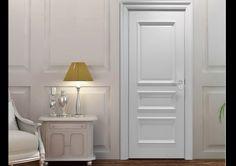 Casabella | Puerta de madera blanca con 3 marcos. Encuéntralo en: Casabella, Calle 109 Nº 14B–16 · Teléfono: +57 1 466 0015 · Bogotá, Colombia
