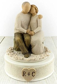 Personalized Willow Tree ® Anniversary Wedding Cake Topper