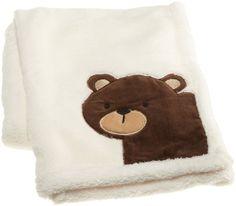 "Amazon.com: Carter's Forest Friends Boa Blanket, Tan/Choc, 30 X 40"": Baby"