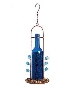 Another great find on #zulily! Blue Bottle Hanging Dish Feeder #zulilyfinds