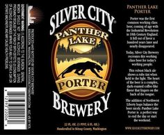 Silver City Panther Lake Porter Beer | We drank this at Anthony's Pier 66 in Seattle, WA.