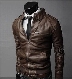 Men's Slim Leather Jacket  http://www.his.boutique/collections/jackets/products/men-s-slim-leather-jacket