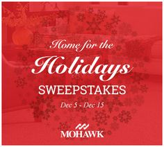 """I just entered the Mohawk Flooring """"Home for the Holidays"""" Sweepstakes for a chance to win a new rug.  #sweepstakes"""