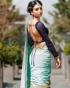 Backless Indian Fashion