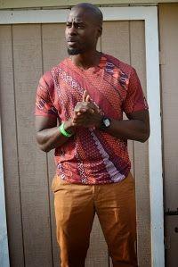 simple Ankara T-shirt for male African Attire For Men, African Men Fashion, African Wear, African Style, B Fashion, Ankara Fashion, Fashion Menswear, Classy Men, Men Looks