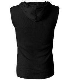 Fashion Slimming Hooded Sleeveless Tank Top For Men