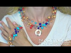 DIY Learn How to Crochet with Beads - Make Bead Necklace Bracelet Jewelry Chain Stitch - YouTube