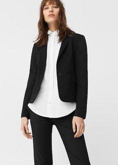 Patterned suit blazer -  Woman   MANGO Greece