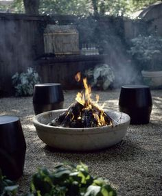 DIY Cement/concrete planter fire pit