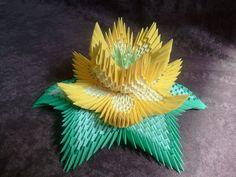 How to make 3d origami lotus flower
