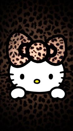 Leopard Pattern Hello Kitty Wallpapers for iPhone 5S Backgrounds ...