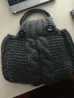 Mi nuevo bolso de punto, super sencillo!