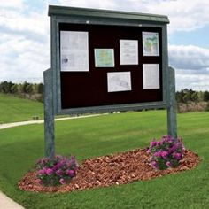 Double Sided Outdoor Message Center // Spread your message to the great outdoors with this community notice board.