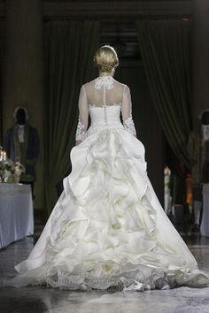 MARIA ANGELA wedding dress, back