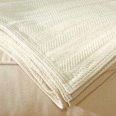 Lifekind: Organic Chenille Throw Blanket - Ivory