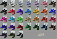 Male_Combat Boots_워커_남성 신발 | SIMS4 marigold