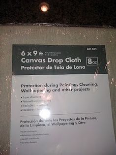 drop cloth curtains/ bedspread/ headboard: how to bleach/soften before sewing...going to use this for our master headboard and for Will's (we'll dye his gray)