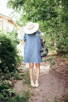 the denim dress - calivintage