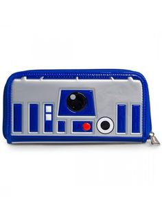 """Star Wars R2-D2"" Wallet by Loungefly (Silver/Blue) #inkedshop #wallet #r2d2 #starwars #obsessed"