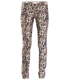 Baby Cord Leopard Print Jeans by Etoile Isabel Marant. Micro-cord leopard print jeans with a skinny-leg and mid-rise with a top button and zipped fastening. Fitted jeans have the classic five pockets and belt loops. #Matchesfashion