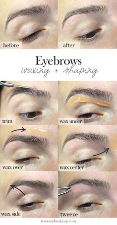 ef304bf4f67 Eyebrow Waxing + Shaping | Tease and Makeup Diy Eyebrow Waxing, Waxing  Eyebrows, Eye
