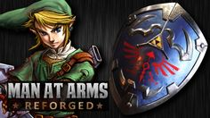 Baltimore Knife and Sword make Link's Hylian Shield.    The Legend of Zelda.  Costume  Cosplay  Props  Blacksmithing
