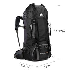 Kusmy Waterproof Backpack Rain Cover 2 Pack for Hiking Camping Traveling Cycling 35L 45L 60L