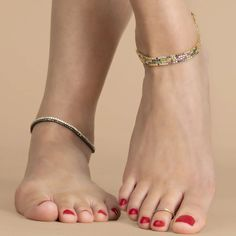 Black Diamond Tennis Anklet – The Last Line Beautiful Toes, Pretty Toes, Feet Soles, Women's Feet, Pies Sexy, Anklet Tattoos, Foot Pics, Foot Pictures, Feet Nails
