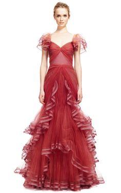Tulle Gown by Zac Posen - Moda Operandi