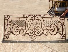 2491. Amazing antique wrought iron balcony with antimonium details. Was forged by hand.
