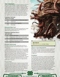 Otherworldly Patron: The Tarrasque Dungeons And Dragons Rules, Dungeons And Dragons Classes, Dnd Dragons, Dungeons And Dragons Homebrew, Warlock Class, Warlock 5e, Dnd Stats, Dnd Classes, Dnd Races