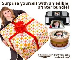 Get started with our range of edible ink pens and edible printer ink. Edible Ink Printer, Cake Printer, Inkjet Printer, Photo Fix, Icing Techniques, Food Decoration, Edible Cake, The Help