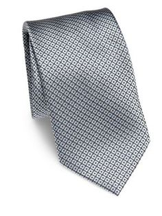 BRIONI Diamond Patterned Silk Tie. #brioni #tie