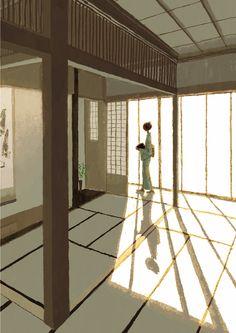 Japanese Illustration: Washitsu. Tadahiro Uesugi. 2003