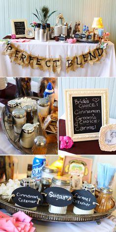 coffee bar at a wedding! yes please Sugar cinnamon creamer coffee Tea bar ideas party brunch wedding Perfect Wedding, Diy Wedding, Wedding Ideas, Trendy Wedding, Wedding Decor, Wedding Trends, Wedding Signs, Garden Wedding, Wedding Table