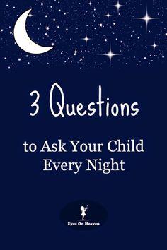 3 Domande da rivolgere al proprio bambino ogni notte