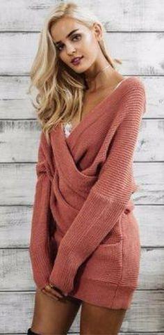 Here's a sweater dress you will be reaching for fall and winter season #Knitteddress #fashionworld #fallsavings #sexy #outfitoftheday