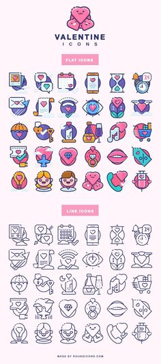 ⬇ Free download: Sugar-sweet icons dedicated to Valentine's Day. Available in flat and line styles, as well as in AI, SVG, EPS, Sketch, CSH and PNG formats.