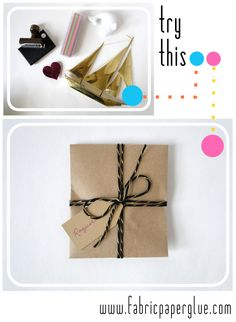 Fabric Paper Glue: Try This: Gift Envelope for Oddly Shaped Items