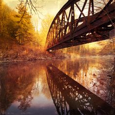 Abandoned bridge  www.paintingyouwithwords.com