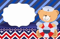 Sailor Bear: Free Printable Invitations. | Oh My Baby!