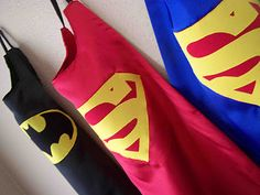 Simple capes to make for young boys (or girls, too, if they are in to super heroes!)