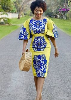 Beautiful Plain And Patterned Ankara Designs 2019 African Inspired Fashion, Latest African Fashion Dresses, African Print Dresses, African Print Fashion, African Dress, African Prints, Nigerian Fashion, Ankara Fashion, African Attire