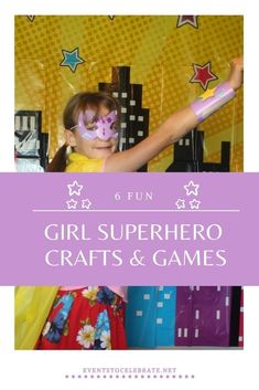 6 fun ideas for a girl superhero themed party. Creative games and crafts my girls loved! Superhero Theme Party, Party Themes, Party Ideas, Cool Girl, My Girl, Girl Birthday, Birthday Parties, Real People, Fun Ideas