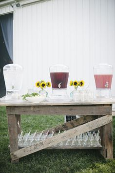 Beverage Station Styling: Amore Events by Cody Castle Hill Cider BBQ Exchange Photo: Jeffrey Gleason