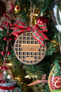 - 'Tis the Season to Eat Waffles - Brighten up your holiday decorations with this handcrafted Christmas tree ornament. Tis The Season, Christmas Tree Ornaments, Great Gifts, Seasons, Holiday Decor, Waffle, Holidays, Star, Holiday