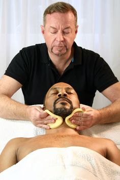 Male facial treatment