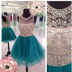 This+dress+could+be+custom+made,+there+are+no+extra+cost+to+do+custom+size+and+color.    Description+of+short+homecoming+dress+  1,+Material:+tulle,+sequin,+rhinestone,+beads,+elastic+silk+like+satin,+pongee.  2,+Color:+picture+color+or+choose+from+the+color+chart,+if+you+need+fabric+swatch,+you+...